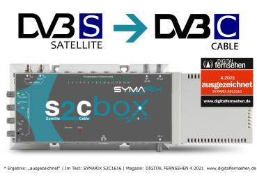 SYMARIX S2C1616 Kompaktkopfstelle DVB-S2 zu DVB-C 16 Kanal